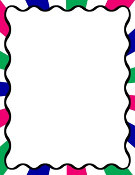 Digital Paper-8.5 x 11 Border Frame Paper Dreamin'