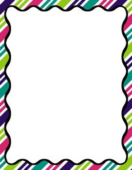 Digital Paper-8.5 x 11 Border Frame Paper Gumdrops