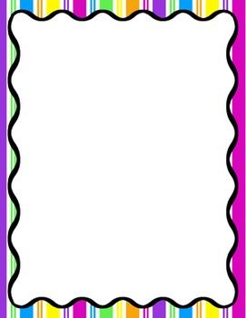 Digital Paper-8.5 x 11 Border Frame Paper Sunny Days
