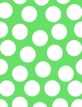 Digital Paper / Digital Background A4 8.5X11 polka dots