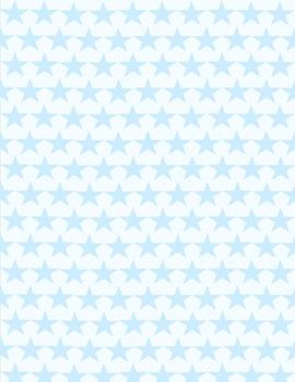 Digital Paper A4 8.5X11 stars