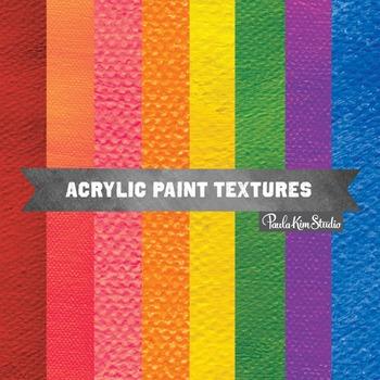 Digital Paper - Acrylic Paint Texture
