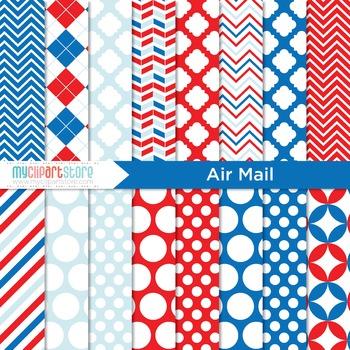Digital Paper - Air Mail / Postal