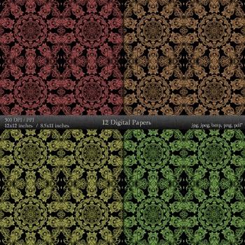 Digital Paper Album Decorative Ornate Template Making Vintage Jpg Scrap Book A4