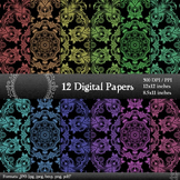 Digital Paper Album Decorative Ornate Template Making Vint
