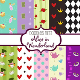 Digital Paper - Alice in Wonderland great for Classroom art projects