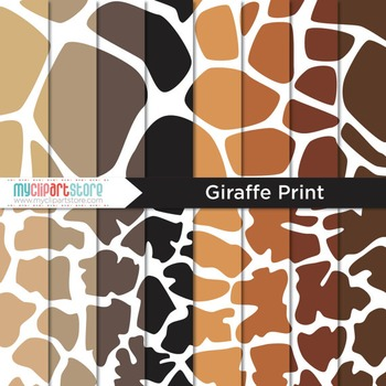 Digital Paper - Animal Print / Giraffe Print