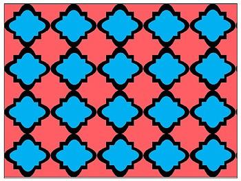 FREE Digital Paper - Aqua & Coral Moroccan