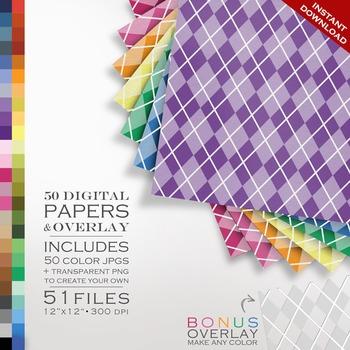 Digital Paper - Argyle + DIY Overlay
