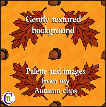 Autumn Digital Paper Leaves and Acorns
