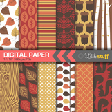Digital Paper, Autumn Colors Digital Paper, Fall Digital Papers