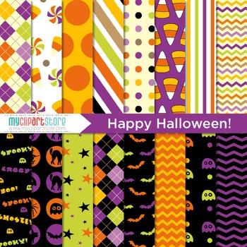Digital Paper - Autumn / Fall / Halloween