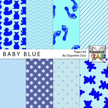 Baby Blue Digital Paper or Backgrounds