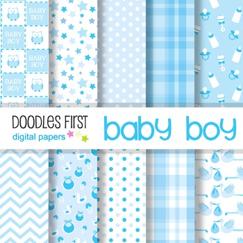 Digital Paper - Baby Boy great for Classroom art projects