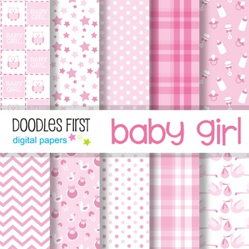 Digital Paper - Baby Girl great for Classroom art projects