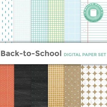 Notebook and Kraft Digital Paper