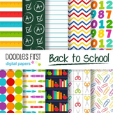 Digital Paper - Back to School great for Classroom art projects