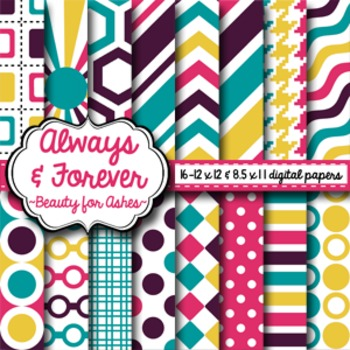 Digital Paper Beauty for Ashes
