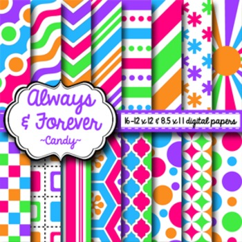Digital Paper Candy