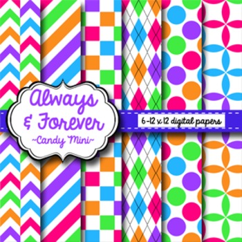 Digital Paper Candy Mini