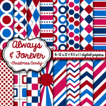 Digital Paper Christmas Candy