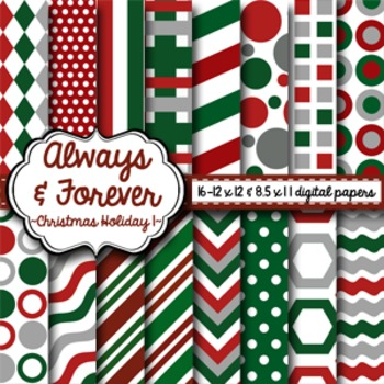Digital Paper Christmas Holiday