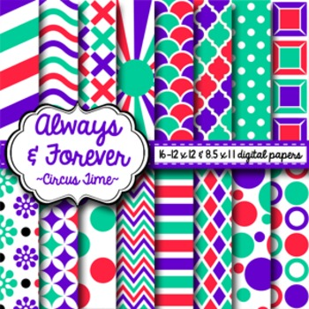 Digital Paper Circus Time