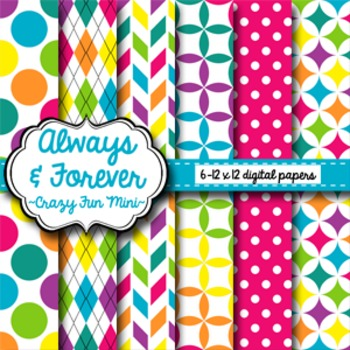 Digital Paper Crazy Fun Mini