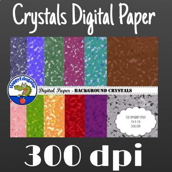 Digital Paper - Background Crystals