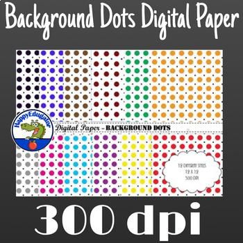 Digital Paper - Background Dots