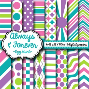 Digital Paper Egg Hunt