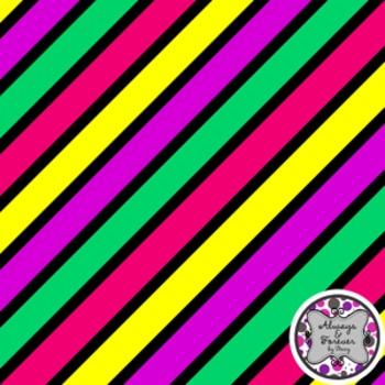 Digital Paper Background FREEBIE Diagonal Stripes