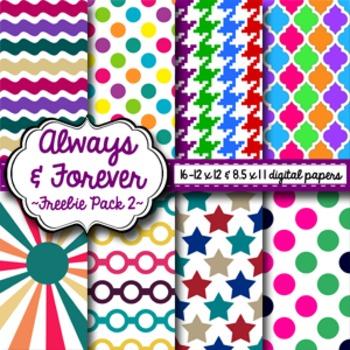 Digital Paper Freebie Pack 2!