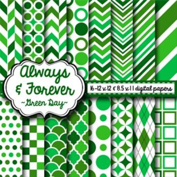 Digital Paper Green Day