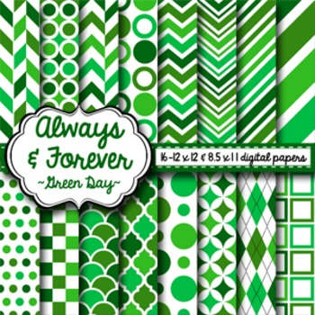 Digital Paper Green Day