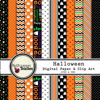 Digital Paper Background Halloween Orange and Black Paper
