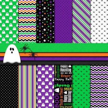 Digital Paper Background Halloween Purple and Black Paper and Clip Art