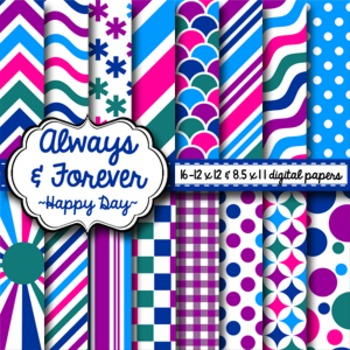 Digital Paper Happy Day