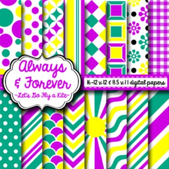 Digital Paper Let's Go Fly a Kite
