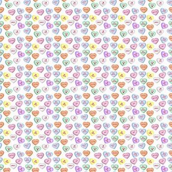Digital Paper Background Pack Conversation Hearts Valentine's Day