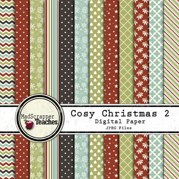 Digital Paper Background Pack Cozy Christmas 2 Paper