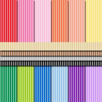 Digital Paper Background Pack Rainbow Colors Stripe Patterns