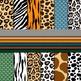 Digital Paper Background Pack Wild Animal Prints