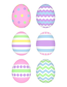 Digital Paper Background Pack and Clipart Happy Easter Pastel Colors