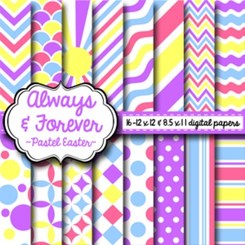 Digital Paper Pastel Easter