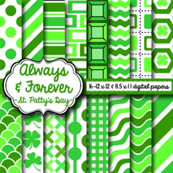 Digital Paper St. Patty's Day