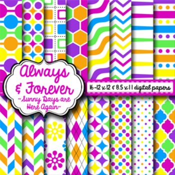Digital Paper Sunny Days are Here Again