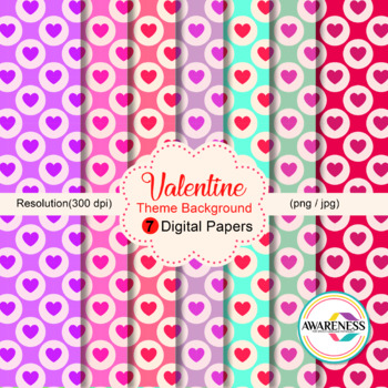 digital paper background valentine theme set 2