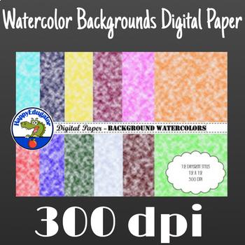 Digital Paper - Background Watercolors