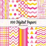 100 Digital Paper Backgrounds